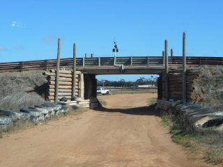 Swan Hill CRS and Autocross. Bridge used in very different ways for CRS and Autocross sub events.