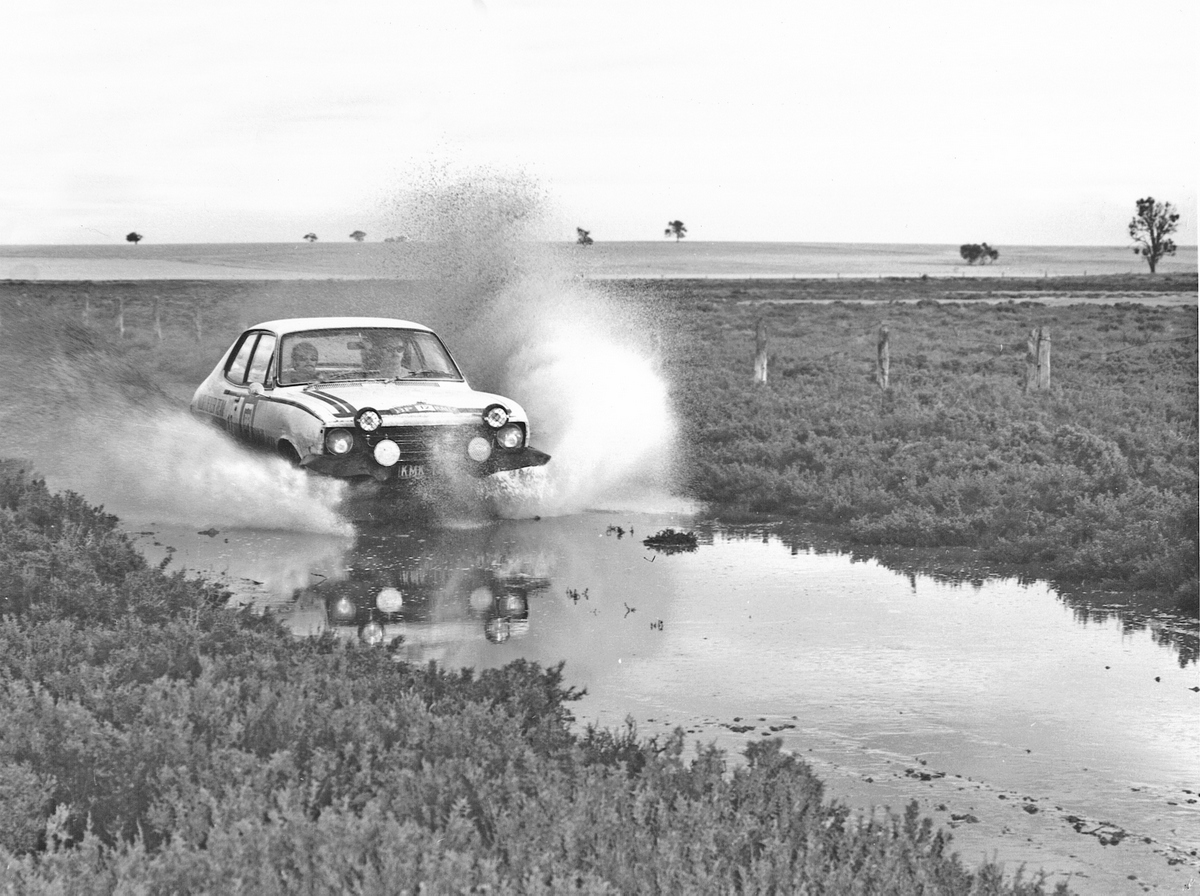 1970 BP Rally - a Torana in a water splash