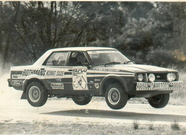 Bond/Riley/Dawson-Damer Cortina for the Repco Round Australia. Pic from Ford Australia.
