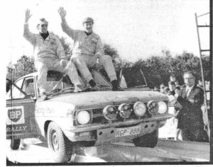 1971 BP Rally winners Stewart McLeod and Jack Lock.