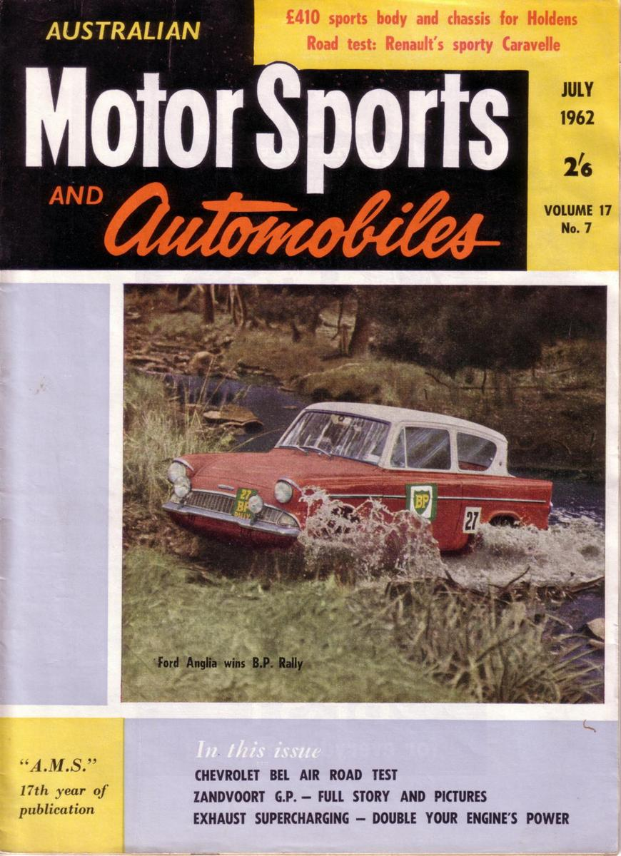 cover of Australian Motor Sports magazine, July 1962