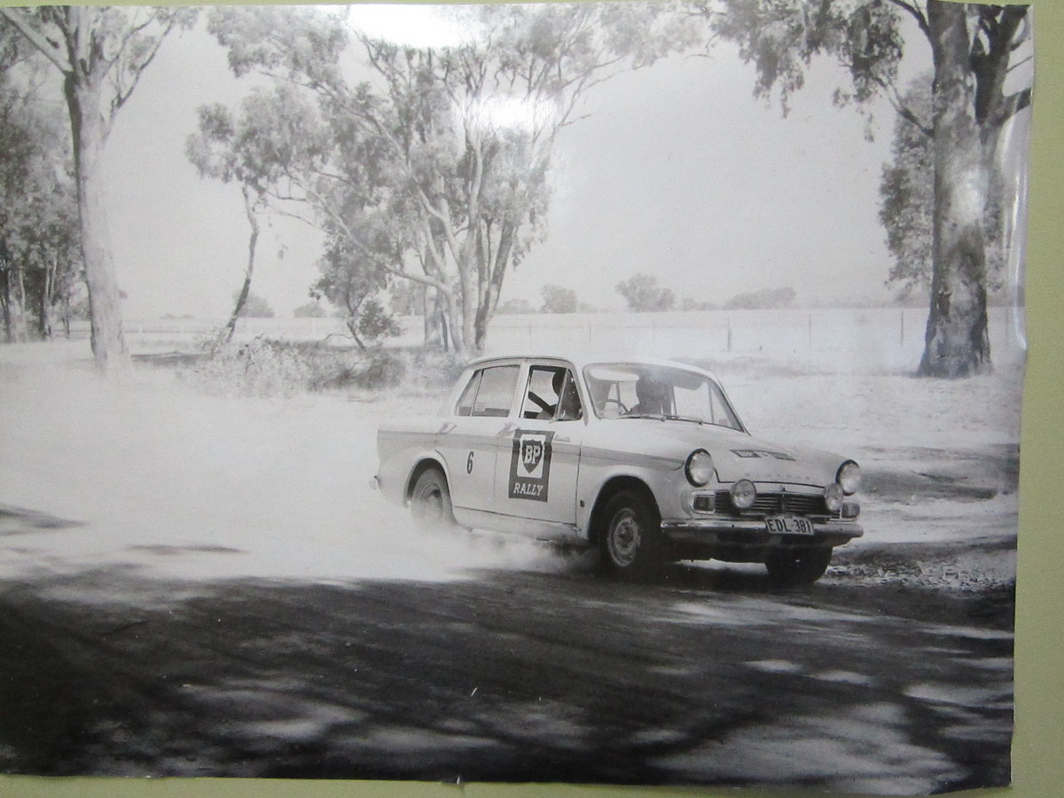 A car on an early BP Rally...