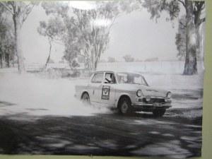 A car on an early BP Rally...