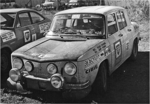 A Pic of Renault rally car AZE-550 in the 1971 BP