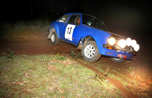 Winners of the 2013 Victoria Cross Rally, Neil Schey and James Elliott