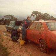 John Hardiman and Doug Hughes servicing Rod Martin Galant