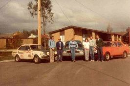 L to R - Barry Farnell, Phill Gallagher, John Hardiman (service crew) Megan Martin, Rod Martin, Geoff Byron - photo by Doug Hughes (service crew)