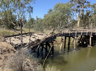 Wimmera River Bridge - this bridge was in operation in 1981 - it was a long time ago