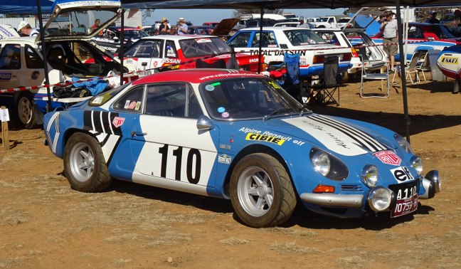 Renault Alpine at Rally Retro Day in 2019